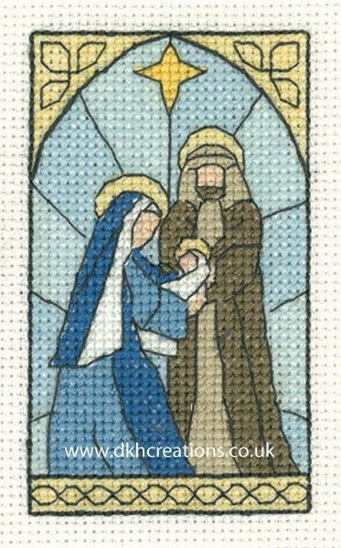 Nativity Scene Christmas Greetings Card Cross Stitch Kit